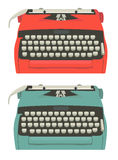 Retro typewriter set Royalty Free Stock Images