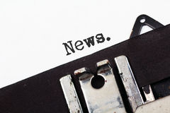Retro typewriter text news Royalty Free Stock Image