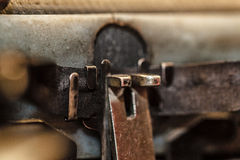 Retro typewriter Stock Images