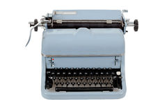 Retro typewriter on white background Stock Images