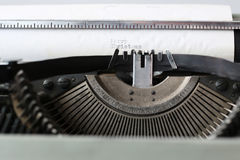 Retro typewriter with white paper Stock Photography