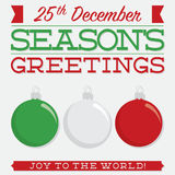 Retro typographic bauble card Royalty Free Stock Photography