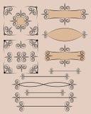 Retro typographic design elements. Set of retro typographic design elements vector illustration Royalty Free Stock Photo