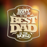 Retro typographical card Happy Father's day. Royalty Free Stock Photos