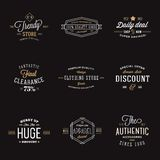 Retro Typography Abstract Vector Discount and Sale Royalty Free Stock Images