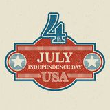 Retro typography card Independence Day. Vector Royalty Free Stock Photo