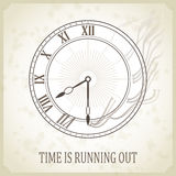 Retro typography poster with clock Royalty Free Stock Photos