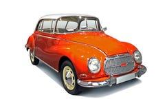 Retro tysk bil för klassisk 50-tal på vit Arkivfoto