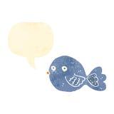 retro uccello del blu del fumetto Immagine Stock