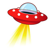 Retro UFO Illustration Stock Images