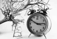 Retro- Uhr, Konzept Schwarzweiss Lizenzfreies Stockbild