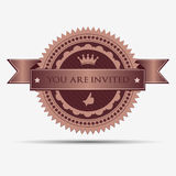 Retro uitnodigingskenteken en etiket Stock Foto's