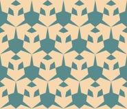 Retro uitstekend geometrisch naadloos patroon met driehoekige vormen Royalty-vrije Stock Foto