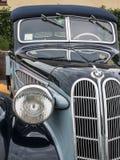 Retro Uitstekende Auto Front View Detail van BMW Stock Fotografie