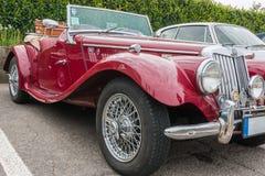 Retro Uitstekende Auto van MG Royalty-vrije Stock Foto