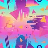 Retro uitstekende de jaren '80 of jaren '90 abstracte naadloze patroon van de manierstijl vector illustratie
