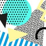 Retro uitstekende de jaren '80 of jaren '90manierstijl De kaarten van Memphis In geometrische elementen Moderne abstracte ontwerp vector illustratie