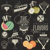 Retro uitstekende het menuontwerpen van het stijlrestaurant. Stock Foto
