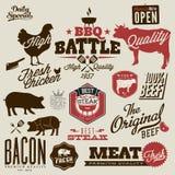Retro uitstekende het menuontwerpen van het stijlrestaurant Stock Foto's