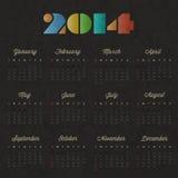 Retro uitstekende ontwerp van de stijlkalender. Royalty-vrije Stock Afbeelding