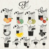 Retro uitstekende ontwerp van stijlfrisdranken. Stock Foto