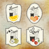 Retro uitstekende ontwerp van stijlfrisdranken Stock Afbeelding