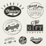 Retro uitstekende stijl typografische titels en symbolen. Royalty-vrije Stock Afbeeldingen