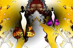 Retro uitstekende stijl van Afrika Royalty-vrije Stock Afbeelding