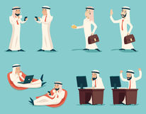 Retro Uitstekende Succesvolle Arabische Zakenman Working Royalty-vrije Stock Fotografie