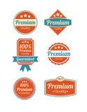 Retro uitstekende van de Premiekwaliteit en Waarborg Etiketten Royalty-vrije Stock Fotografie