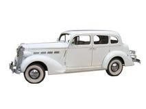 Retro uitstekende witte geïsoleerde auto van het droomhuwelijk Stock Afbeelding