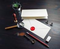 Retro- Umschlag, Briefpapier stockfoto