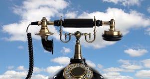 Retro- und elegantes Telefon Stockfotografie