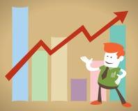 Retro- Unternehmens mit gutem Verkaufsdiagramm Lizenzfreies Stockfoto