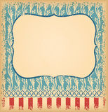 Retro unusual vintage background with ornament. Template for des. Ign invitations, posters and other design Royalty Free Stock Photo