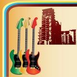 Retro Urban Guitars Stock Photos