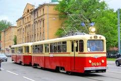 Retro Urban Transport Parade in Saint Petersburg, Russia Royalty Free Stock Photos
