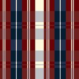 Retro usa color style Seamless blue beige and red fashion plaid Stock Photo