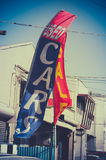 Retro Used Car Dealer Sale Sign Stock Photography