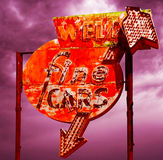 Retro Used Car Sign. Used Car Sign Vintage Retro Stock Images