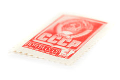 Retro ussr mail stamp Stock Photos