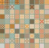 100 Retro ustalonych wektorowych geometrycznych bezszwowi Obrazy Royalty Free