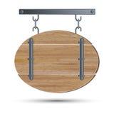 Retro utforma trä stiger ombord stock illustrationer