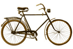 Retro utformad bild av en århundradecykel för th 19 Arkivfoton