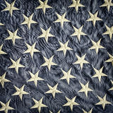 Retro utformad bild av en detalj av amerikanska flaggan Arkivfoto