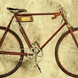 Retro utformad bild av en gammal tävlings- cykel Royaltyfri Foto