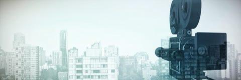 Retro utformad filmkamera Fotografering för Bildbyråer