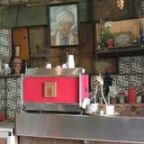 Retro utformat kafé arkivbilder