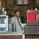 Retro utformat kafé royaltyfri fotografi