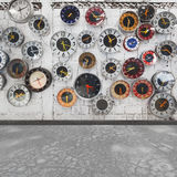 retro vägg för klocka Royaltyfria Foton